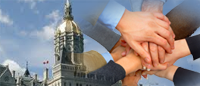 Image State of Connecticut Capitol and Hands